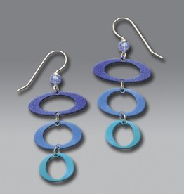 3 Open Ovals in Blue & Aqua Metallics