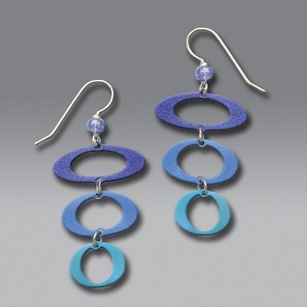3 Open Ovals in Blue & Aqua Metallics