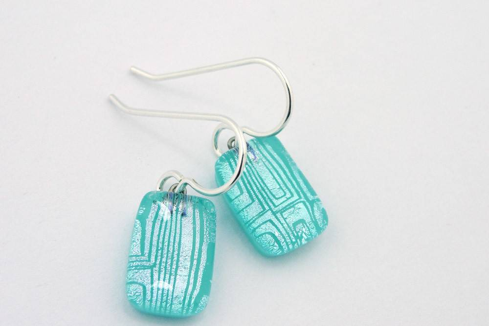 Maze, Lined Earrings