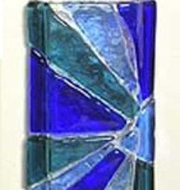 "Mosaic Wall Vase Cobalt 2"" x 6"""