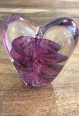 Chuck Walters Heart Paperweight Iridescent