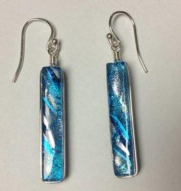 Rectangle Dichroic Earrings