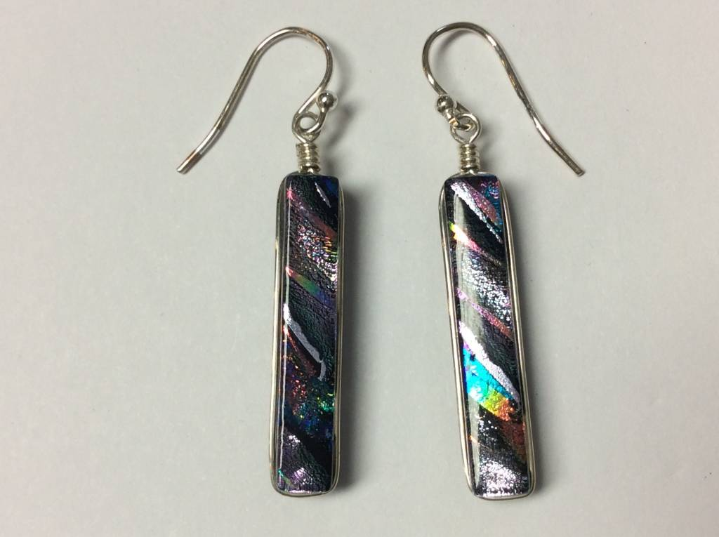 Rectangle Dichroic Earrings