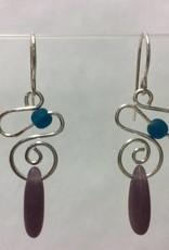 Spiral Mermaid Tear Earrings