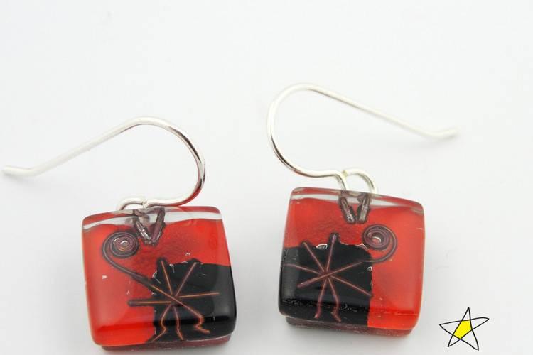 Joan's Star Cube Earrings