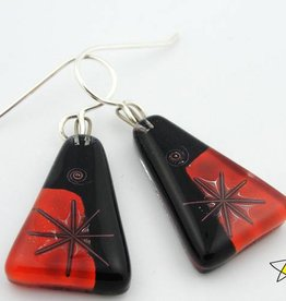 Joan's Star Medium Triangle Earrings