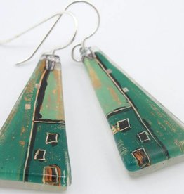 Construct Large Triangle Earrings