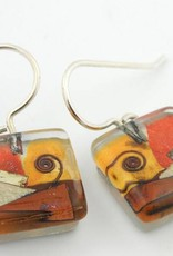Santa Fe Snail Cube Earrings