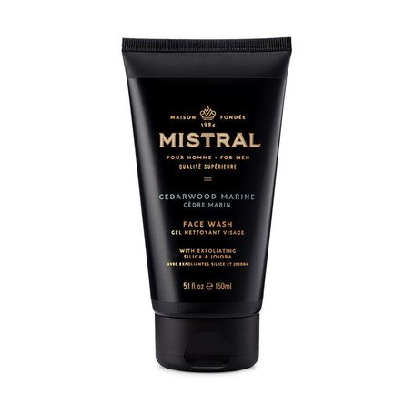 Mistral Men's Cedarwood Marine Exfoliating Face Wash
