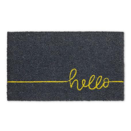 Abbott Hello Doormat Grey and Yellow