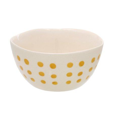 Indaba Cali Bowl Dot Mustard