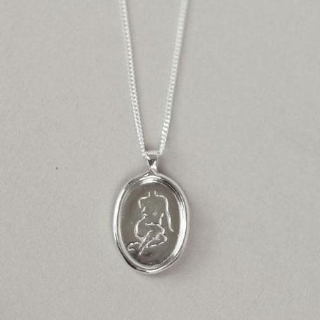 Wolf Circus Femme Pendant Necklace, Silver