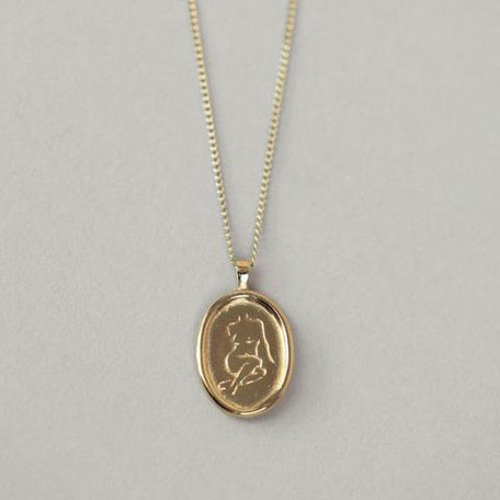 Wolf Circus Femme Pendant Necklace, Gold