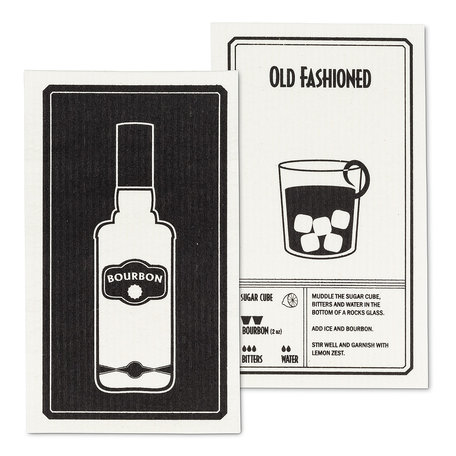 Swedish Dish Cloth, Bourbon/Old Fashioned