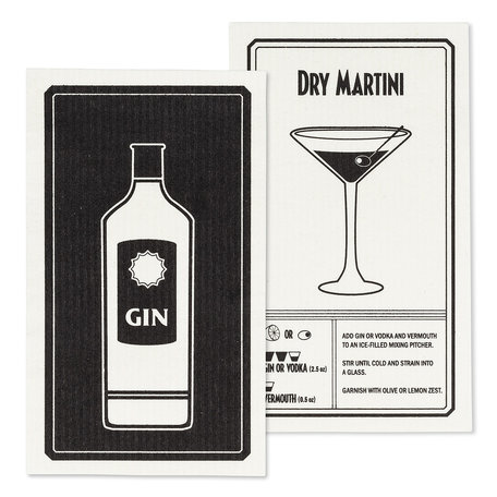 Swedish Dish Cloth, Gin/Martini