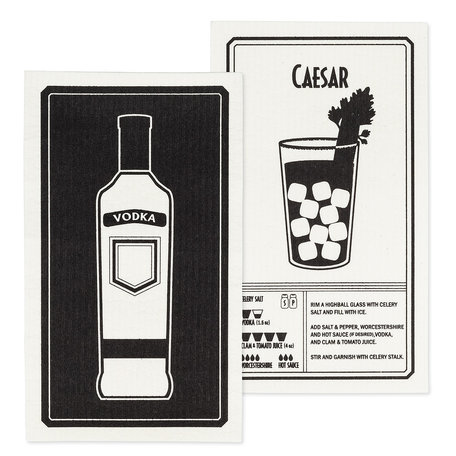 Swedish Dish Cloth, Vodka/Caesar