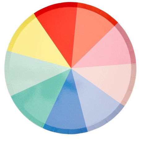 Colour Wheel Dinner Plate