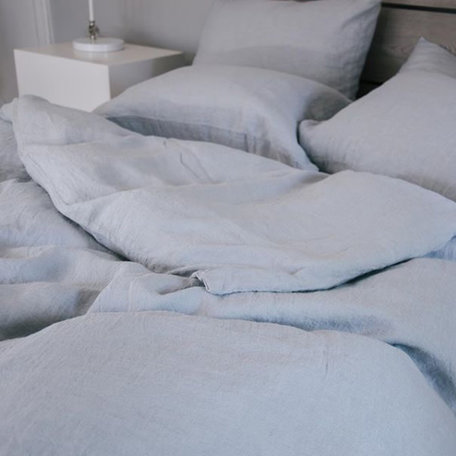 Somn Cloud Grey Linen Bedding