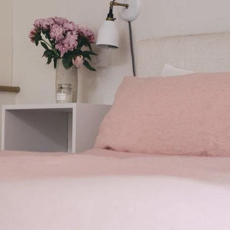 Somn Blossom Pink Linen Bedding