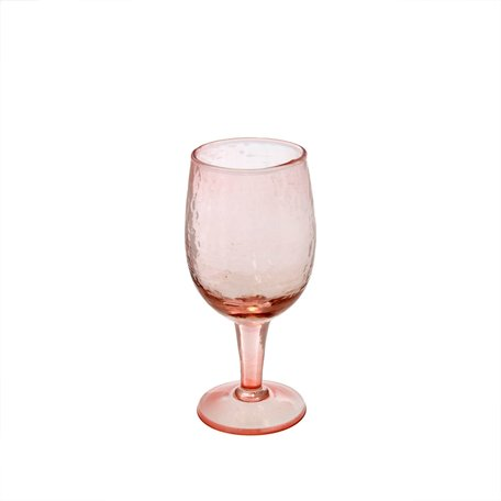 Pink Valdes Wine Glass, Small