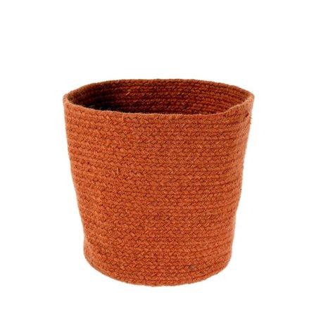 Indaba Elgin Wool Basket Rust