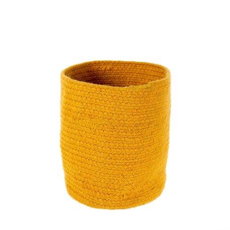 Indaba Elgin Wool Basket Amber