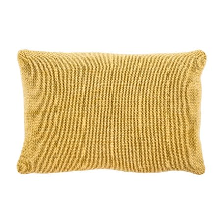 Indaba Cotton Knit Pillow Gold 16x24
