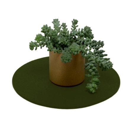 "Graf Lantz 10"" Round Trivet, Moss"