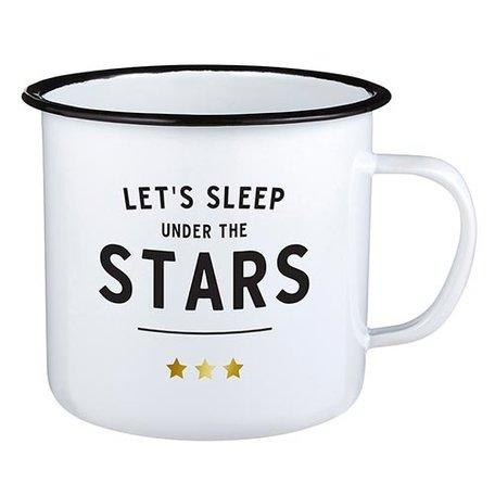Creative Brands Enamel Mug Stars