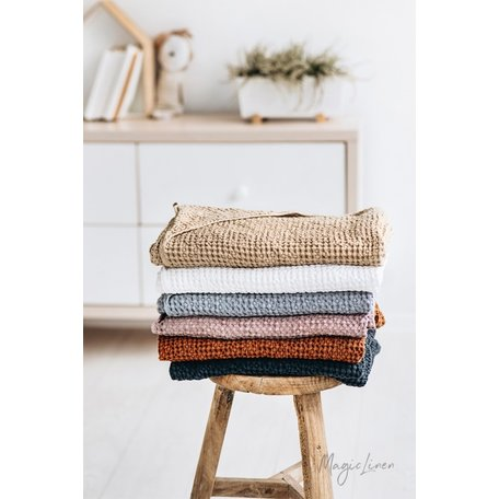 Linen-Cotton Blend Hooded Baby Towel