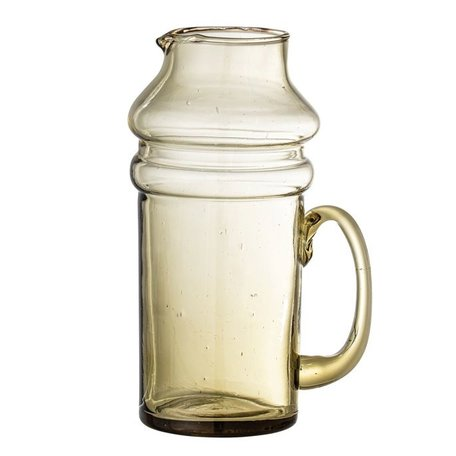 Bloomingville Recycled Glass Pitcher Olive