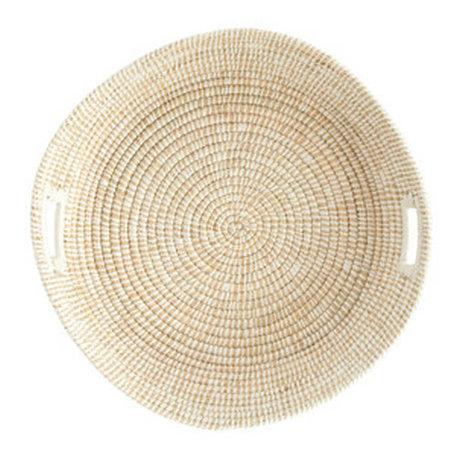 "Creative Coop Grass Basket w/Handles 23.5"""