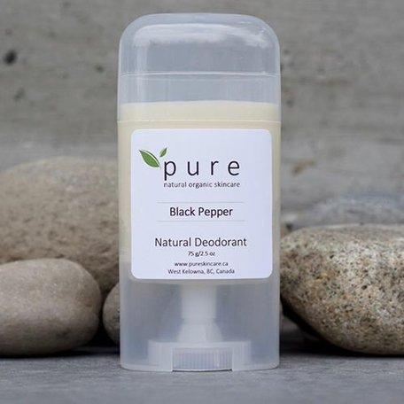 Pure Natural Deodorant Black Pepper 75g