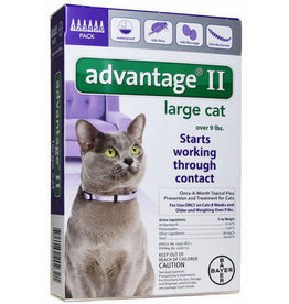 Advantage ADVANTAGE II Cat Purple 6pk 9