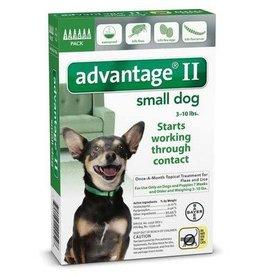 Advantage ADVANTAGE II Dog Green 6pk 0-10lb