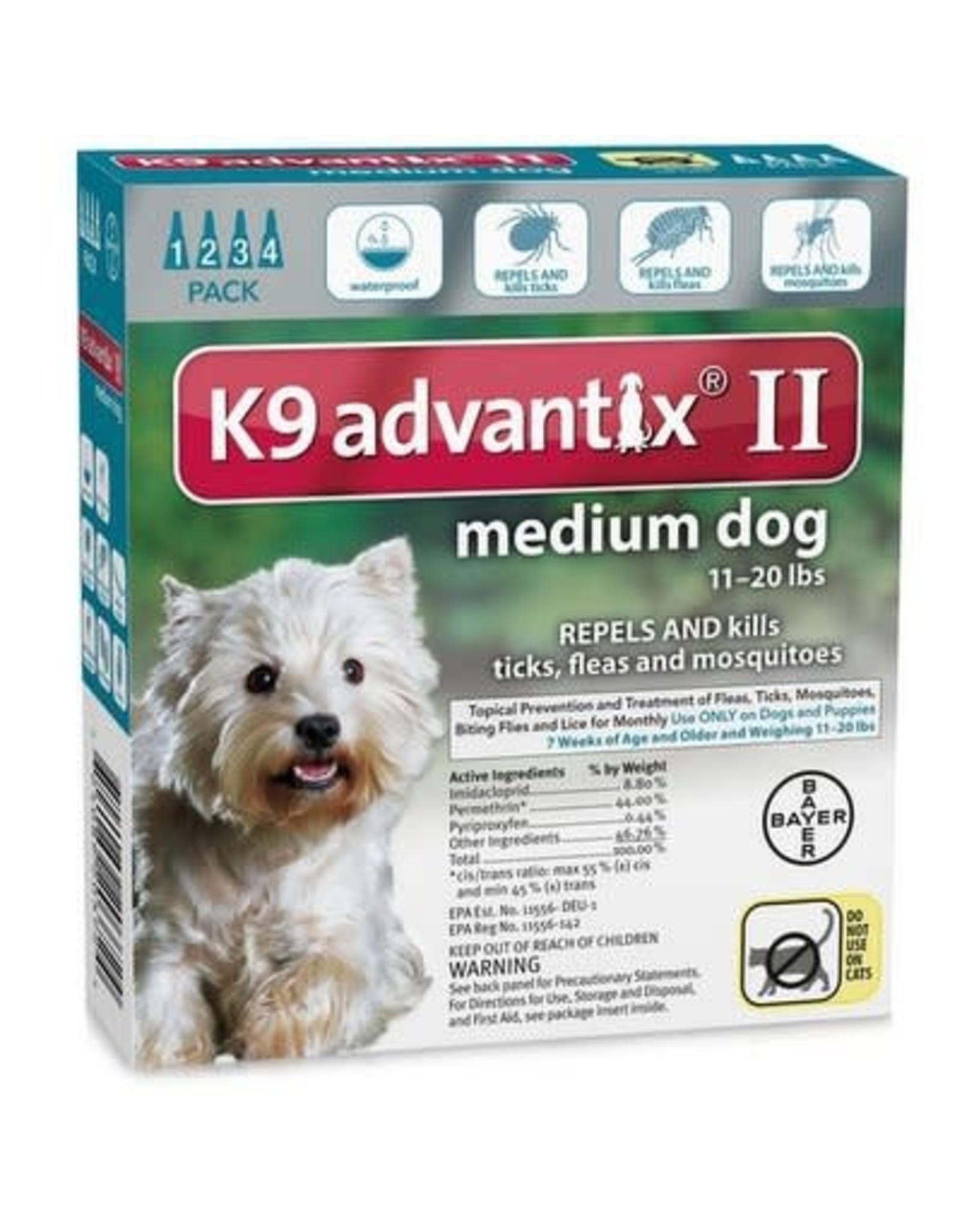Advantix ADVANTIX II Dog Teal 4pk 11-20lb