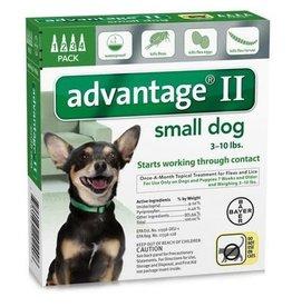 Advantage ADVANTAGE II Dog Green 4pk 3-10lb