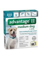 Advantage ADVANTAGE II Dog Teal 4pk 11-20lb
