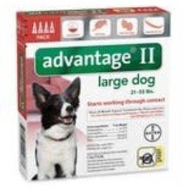 Advantage ADVANTAGE II Dog Red 4pk 21-55lb