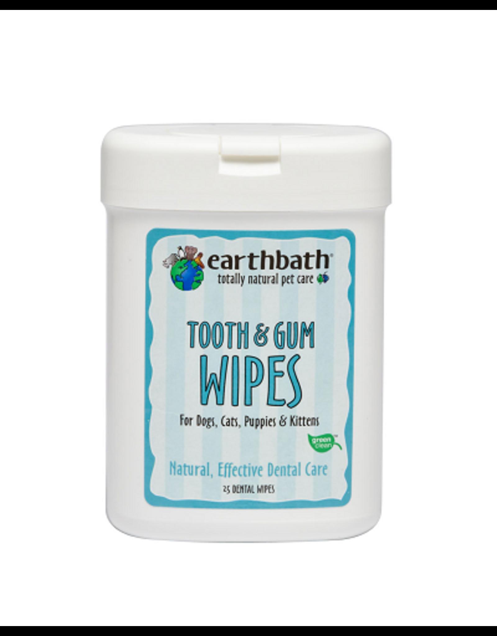 Earthbath EARTHBATH Wipes Tooth  Gum 25ct