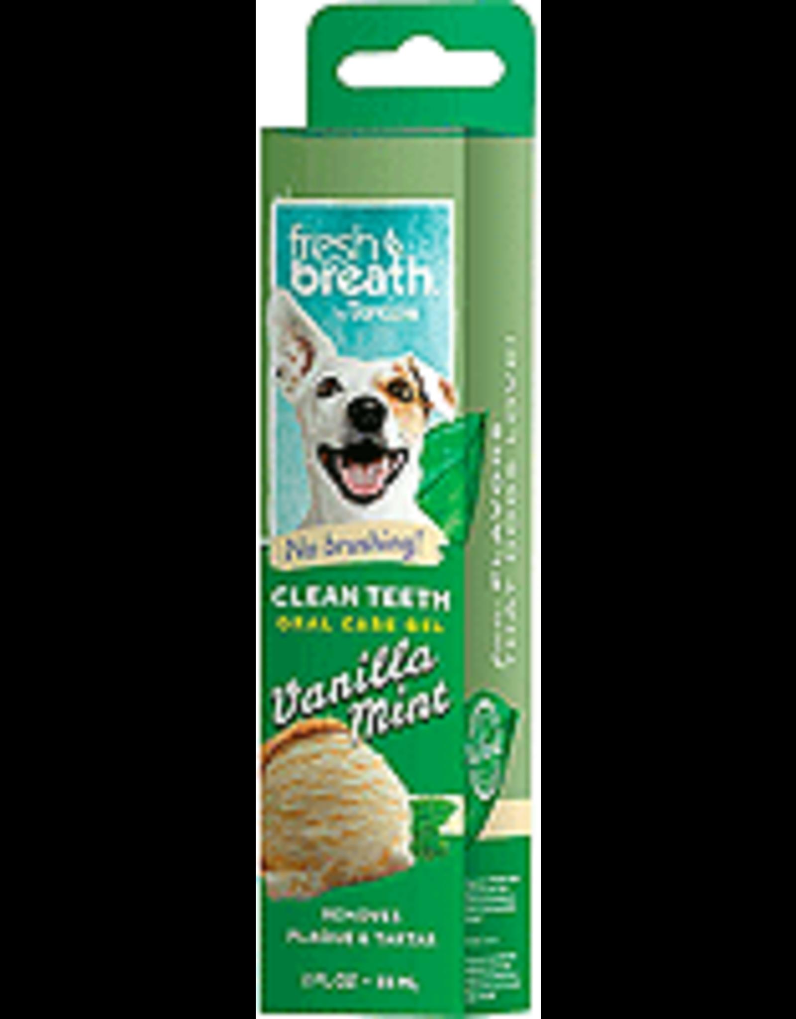 TropiClean FRESH BREATH Gel Vanilla Mint 2oz