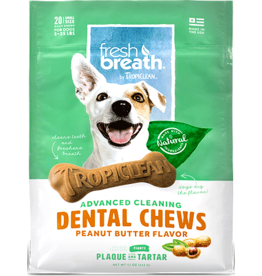 TropiClean *DENTAL CHEW Peanut Butter Small 20ct