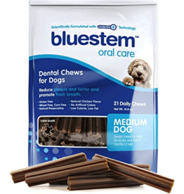 Bluestem Oral Care BLUESTEM Dental Chews Medium 21ct