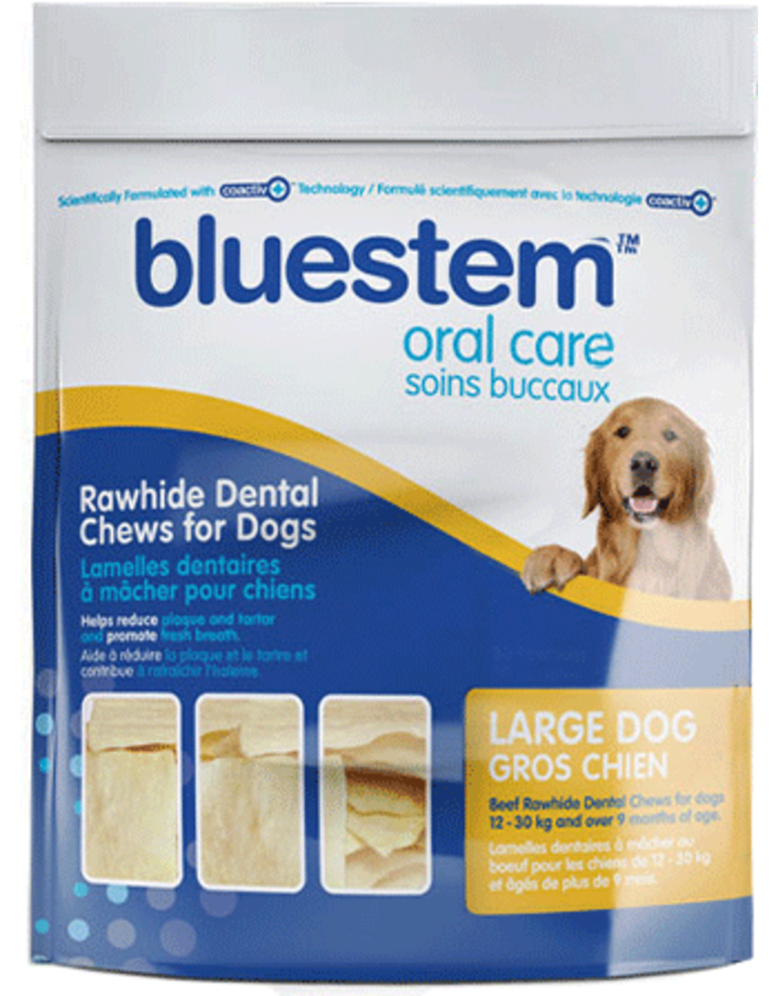 Bluestem Oral Care BLUESTEM Rawhide Chews Large 30ct