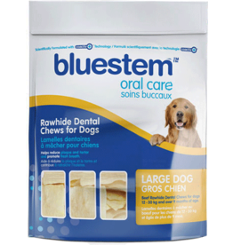 Bluestem Oral Care BLUESTEM Rawhide Chews Large 30ct