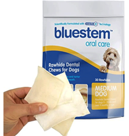 Bluestem Oral Care BLUESTEM Rawhide Chews Medium 30ct