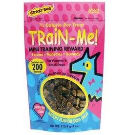 Crazy Pet CRAZY DOG TrainMe Treats Bacon 4oz Mini