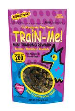 Crazy Pet CRAZY DOG TrainMe Treats Beef 4oz Mini