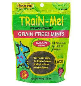 Crazy Pet CRAZY DOG GF Mini TrainMe Bacon 3.5oz