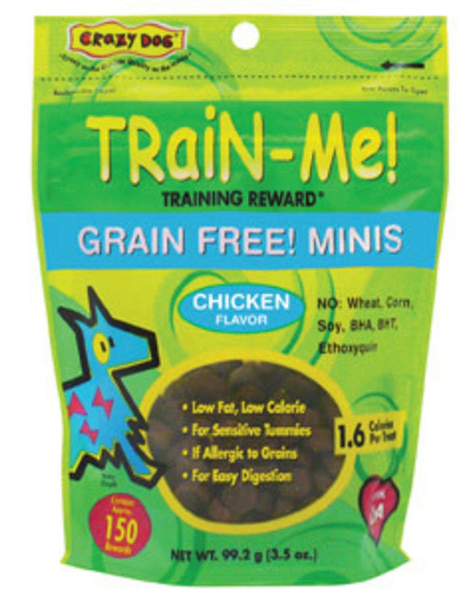Crazy Pet CRAZY DOG GF Mini TrainMe Chkn 3.5oz